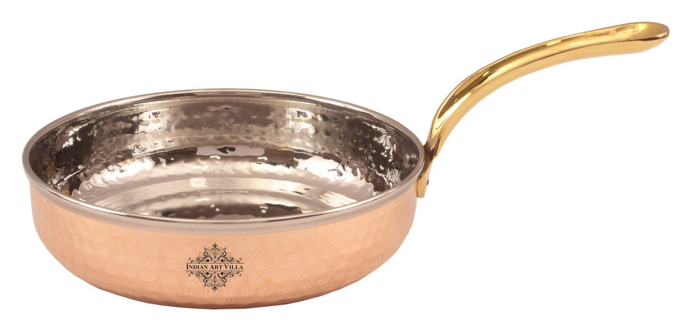 Copper Frying Pan Platter - Serving Dishes Home Hotel Parties Pans Indian Art Villa