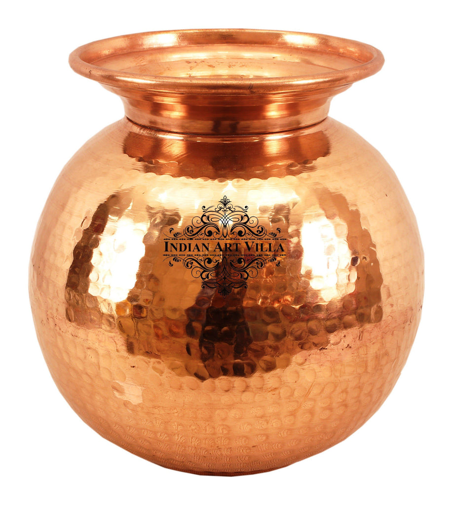 Copper Matka Water Pot Container Water Storage Home Hotel