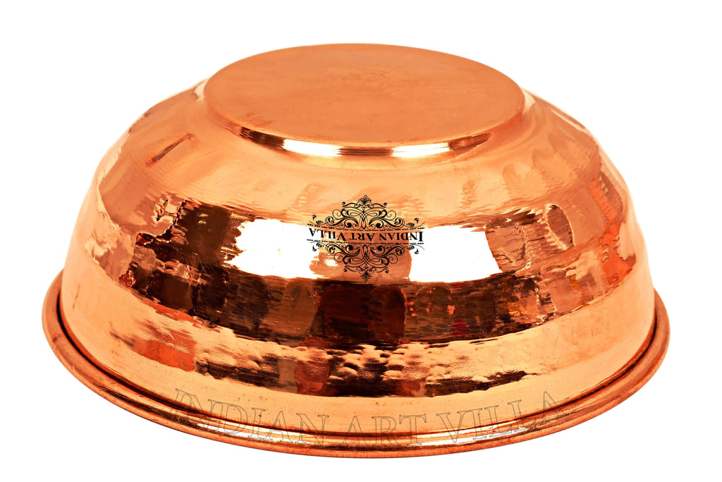 Copper Hammered Bowl Set of - 1 Pieces | 2 Pieces | 4 Pieces | 6 Pieces Dinner Sets CCB-TW