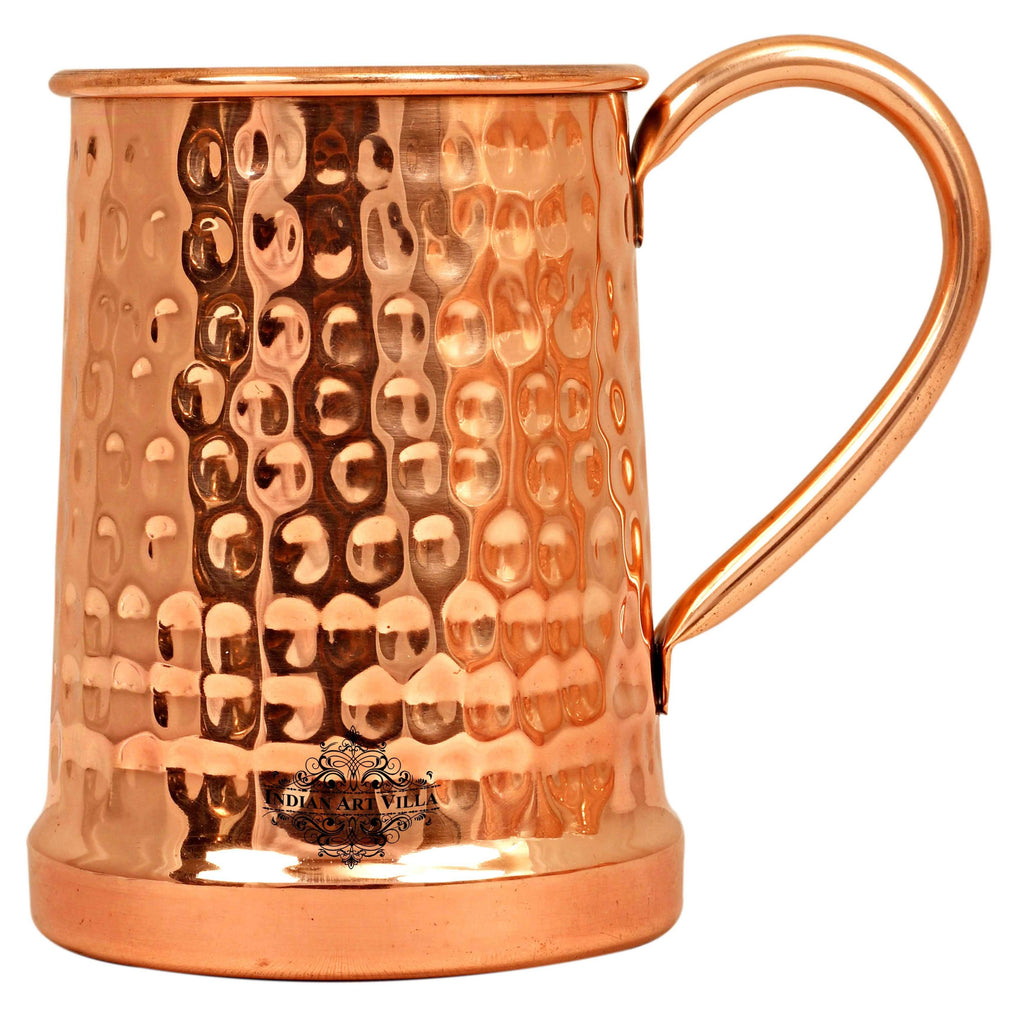 Copper Hammered Design Beer Mug -650 ML