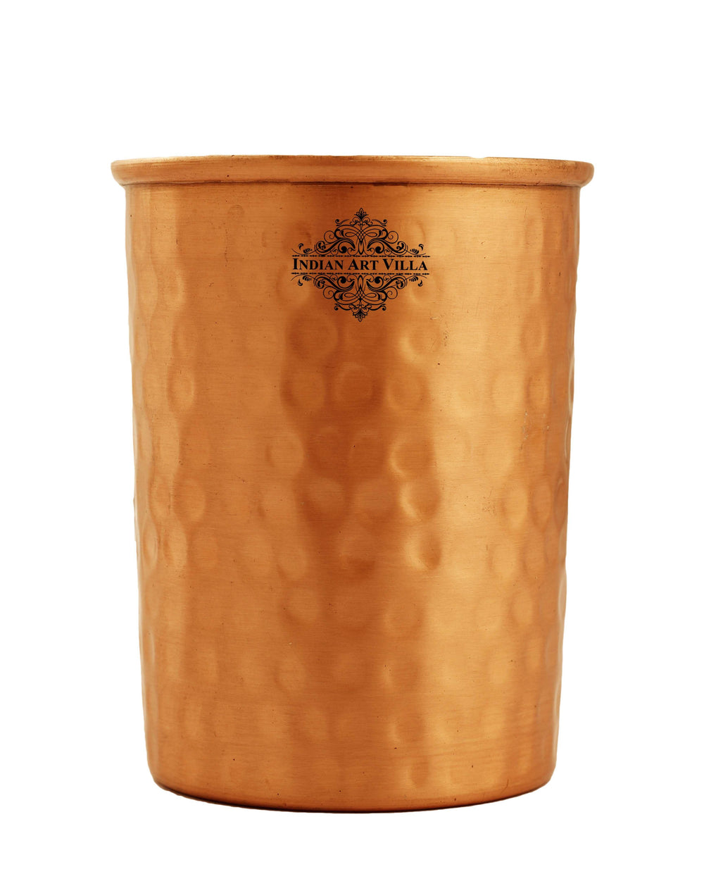 Copper Hammered Design Lacquer Coated Glass Tumbler