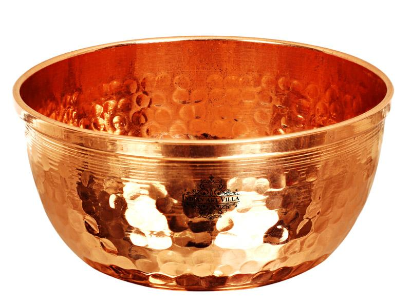 Copper Hammered Design mall Bowl 250 ML