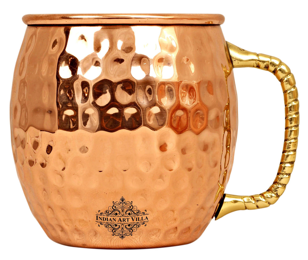 Copper Hammered Design Moscow Mule Beer Mug - 600 ML