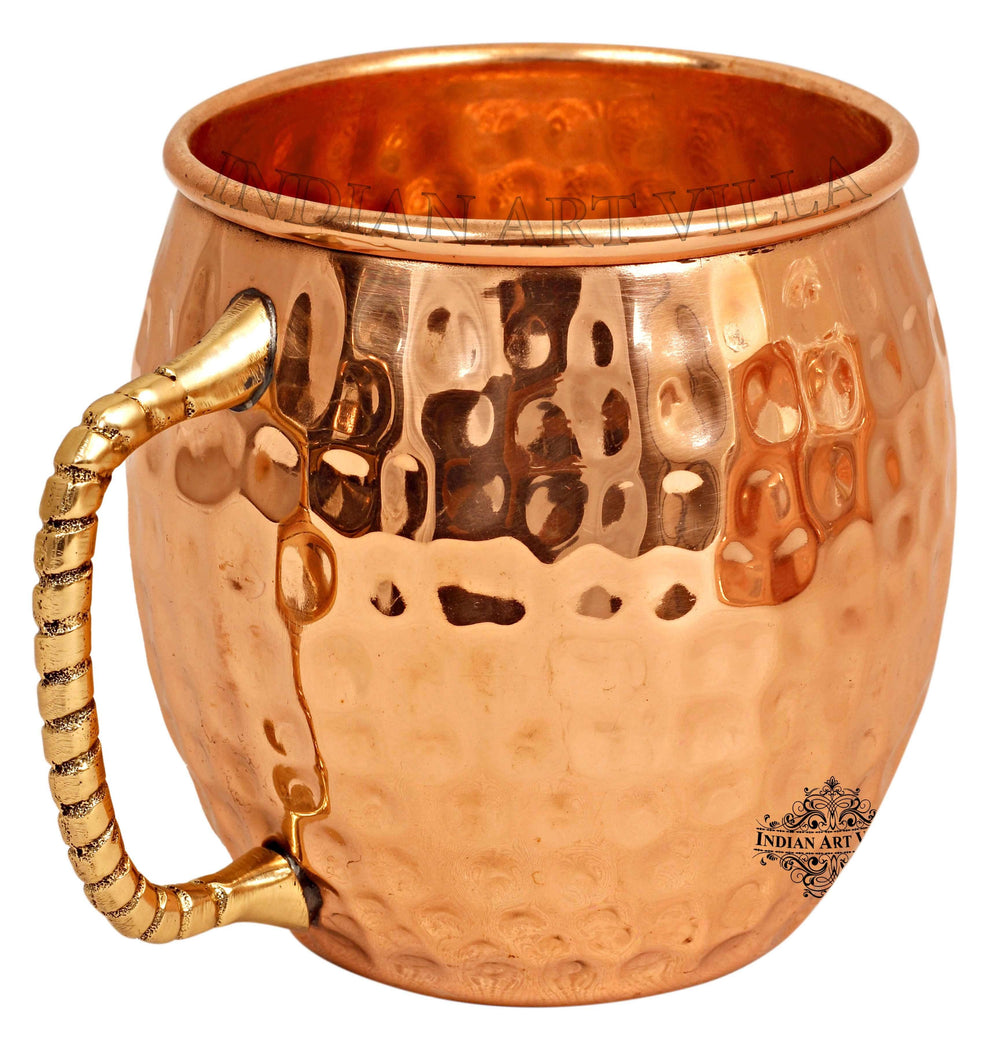 Copper Hammered Design Moscow Mule Beer Mug - 600 ML Beer Mugs CC-30