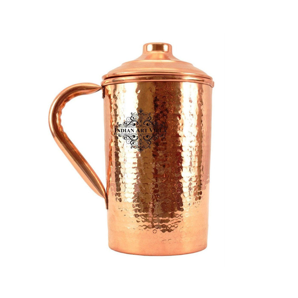 Copper Hammered Jug Pitcher 62 Oz