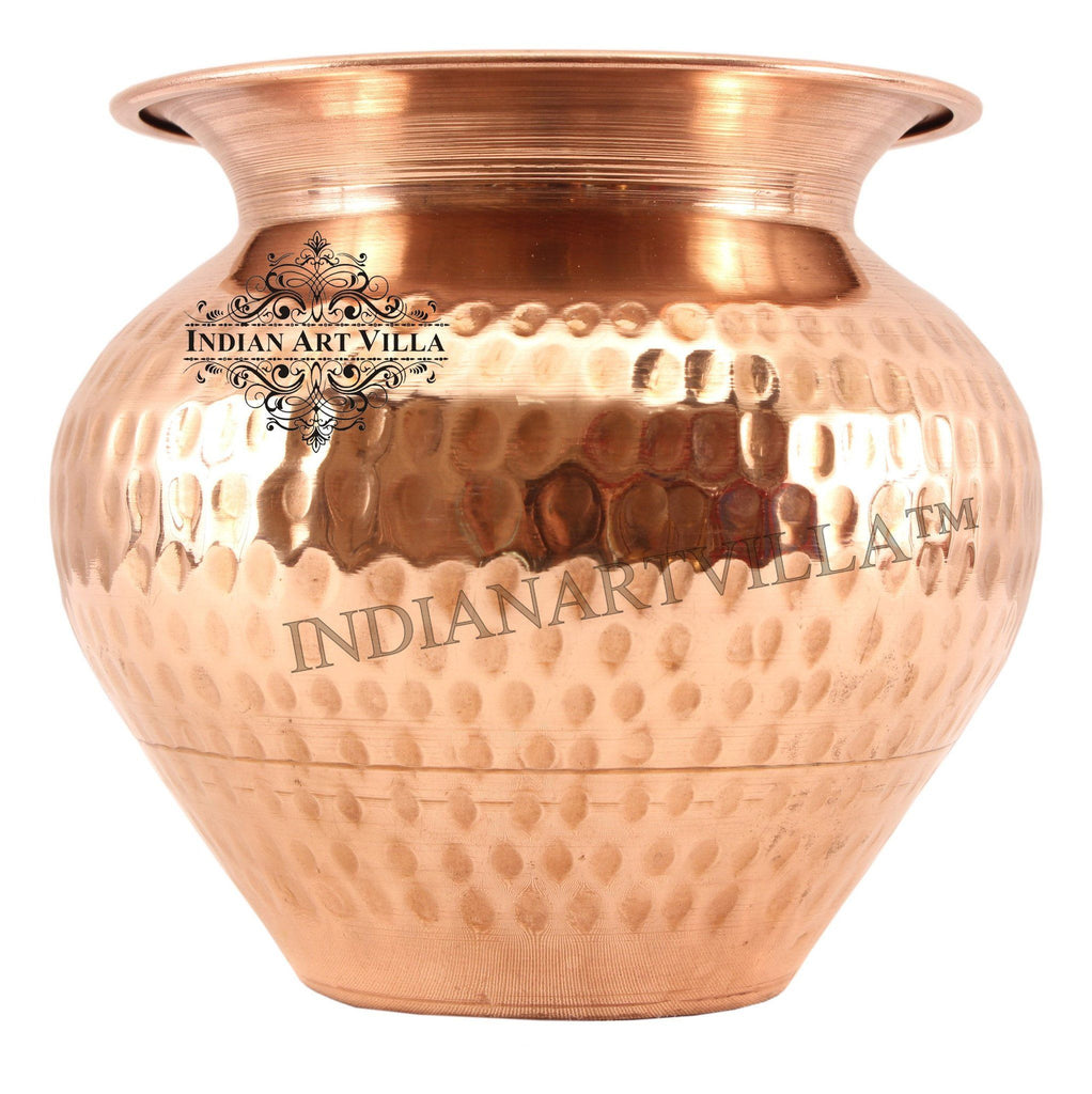 Copper Hammered Lota Container 33 Oz