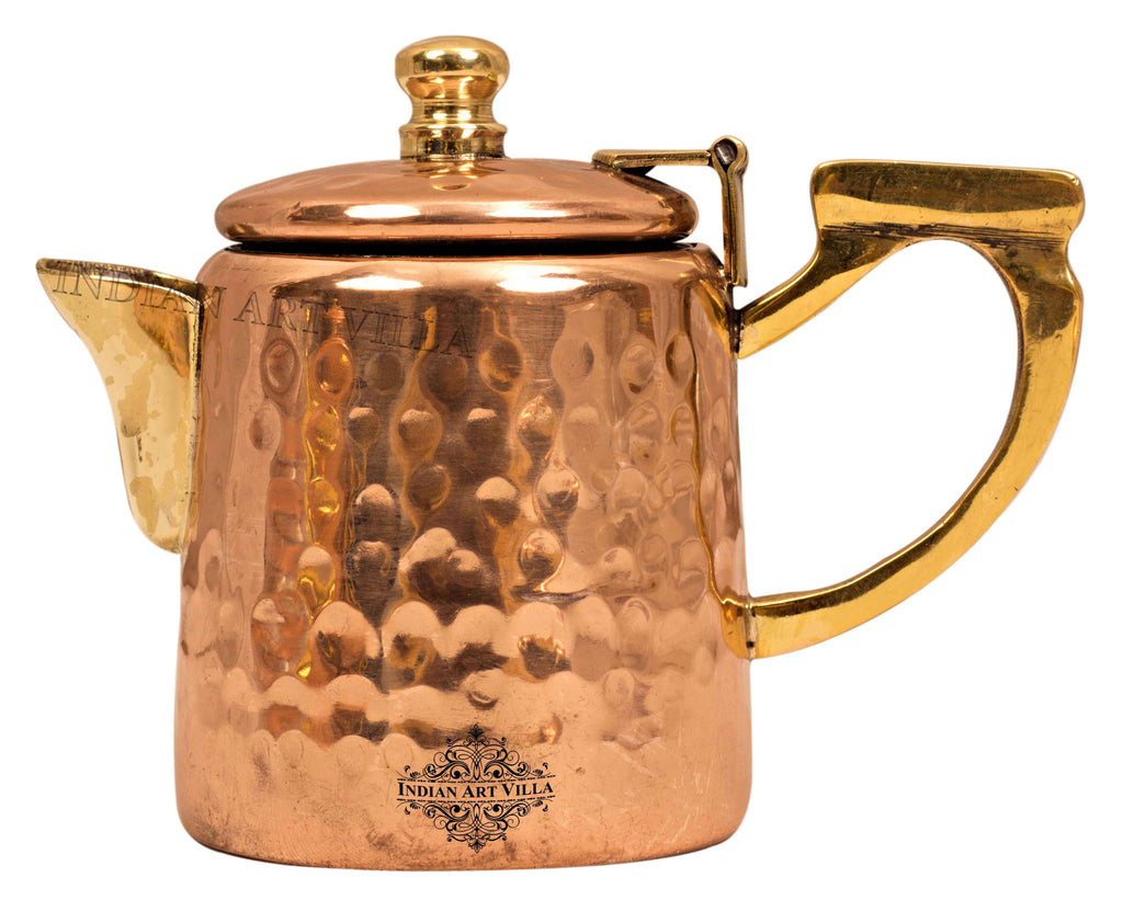 Copper Hammered Milk Pot with Inside Tin Lining Tea Pots CC-17