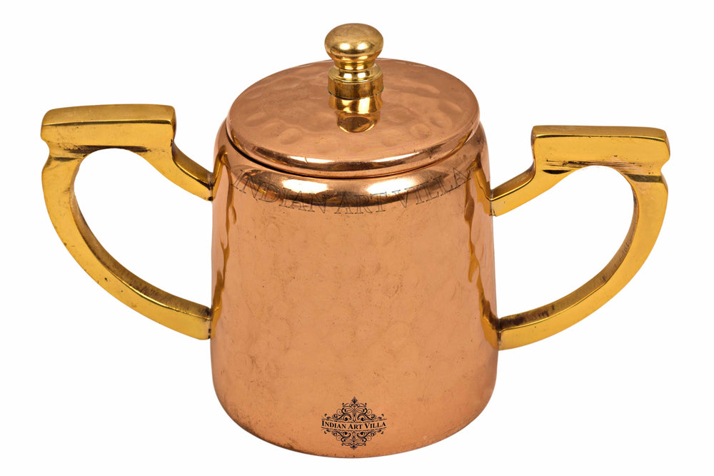 Copper Hammered Sugar Pot with Inside Tin Lining