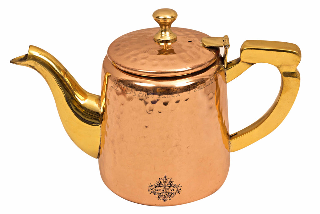 Copper Hammered Tea Pot with Inside Tin Lining