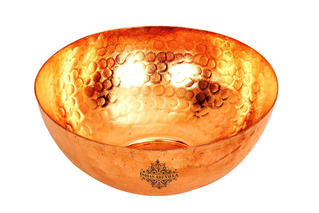 Copper Handmade Hammered Design Serving Bowl