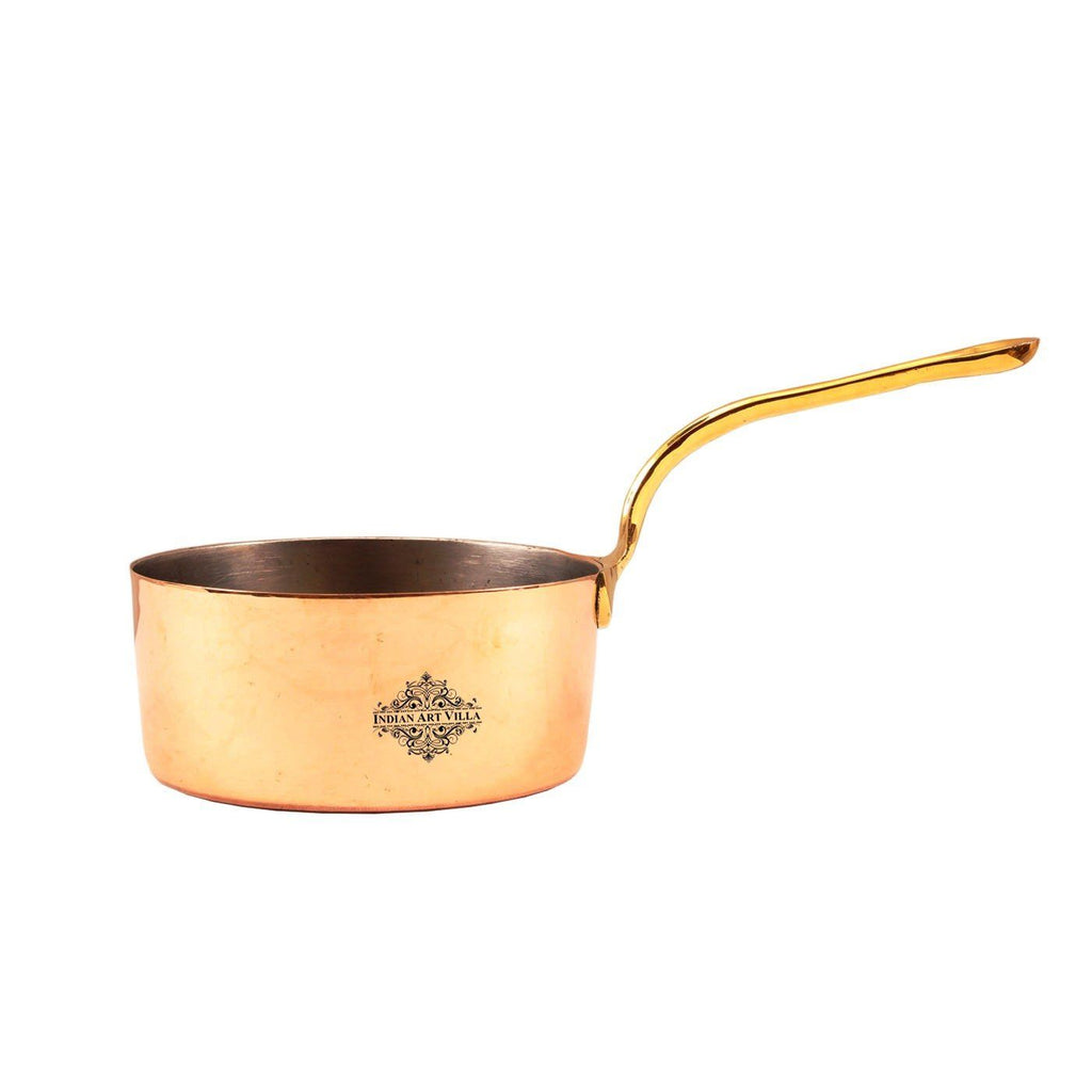 Copper Handmade Pot Pan with Inside Tin Lining-  12 OZ | 28 OZ