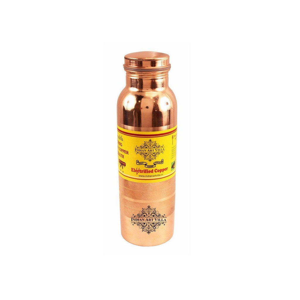 Copper Joint Free Leak Proof 35 Oz Water Bottle Bottles Indian Art Villa