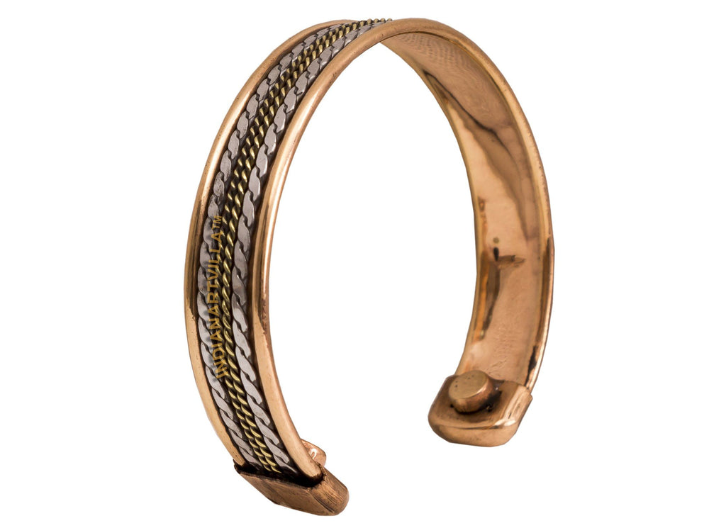 Copper Kada with Magnet - 2 cms Bracelet HR-4