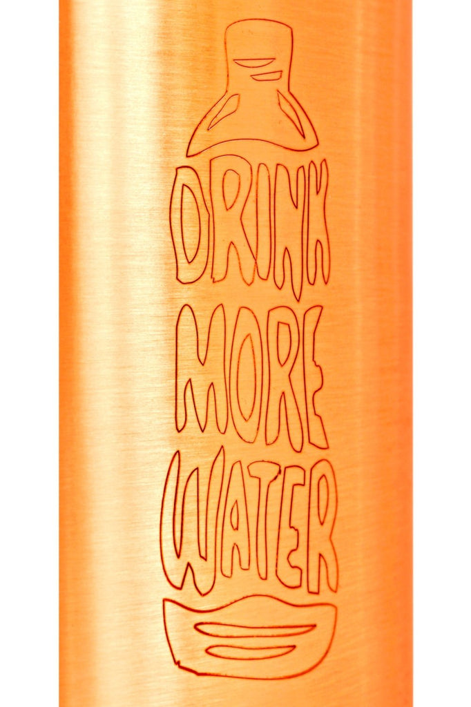 Copper Lacquer Bottle Engraved Both Side Bottle (Drink more & Bottle water Meter...) Bottles CC-34