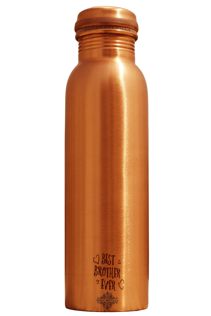 Copper Lacquer Bottle Engraved Bottle (Best Brother Ever)