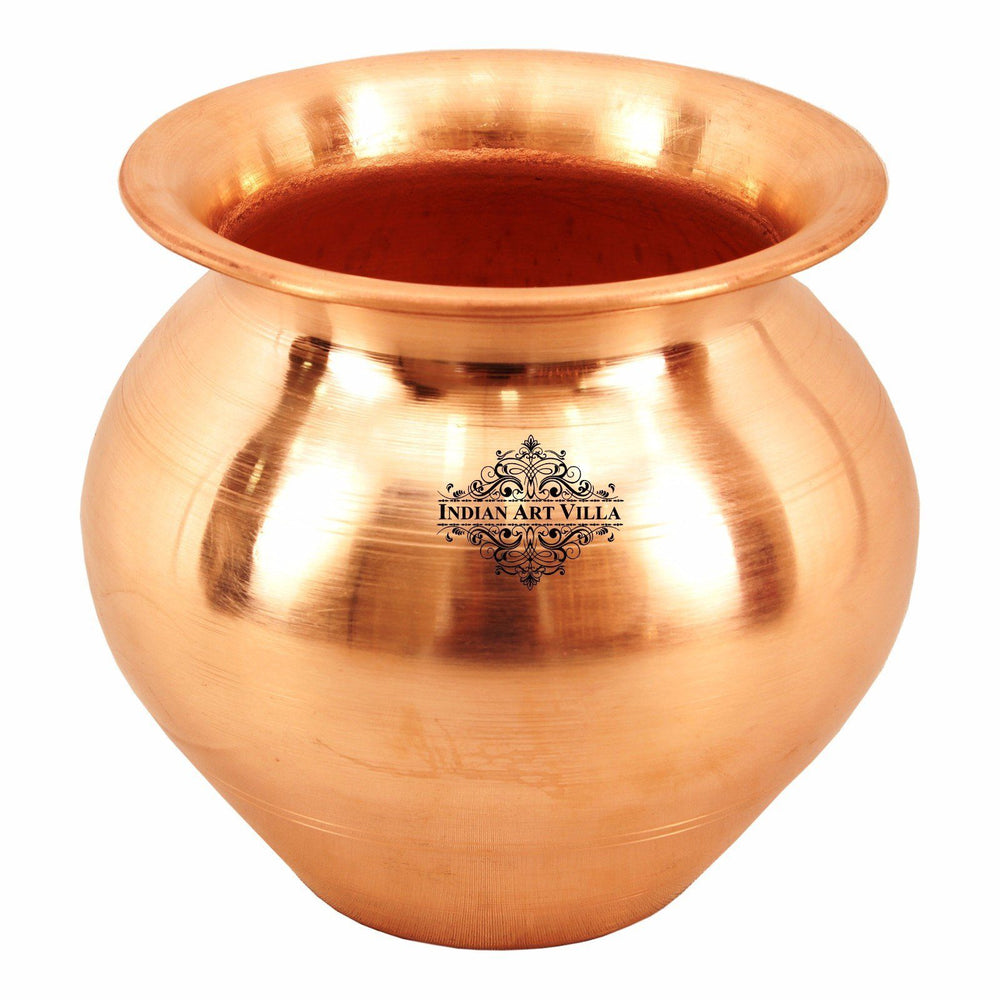 Copper Lota Pot 13 Oz Water Storage Pot Copper Lota Indian Art Villa