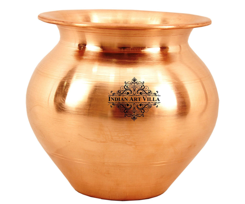 Copper Lota Container Pot Plain Desgin Water Storage Pot