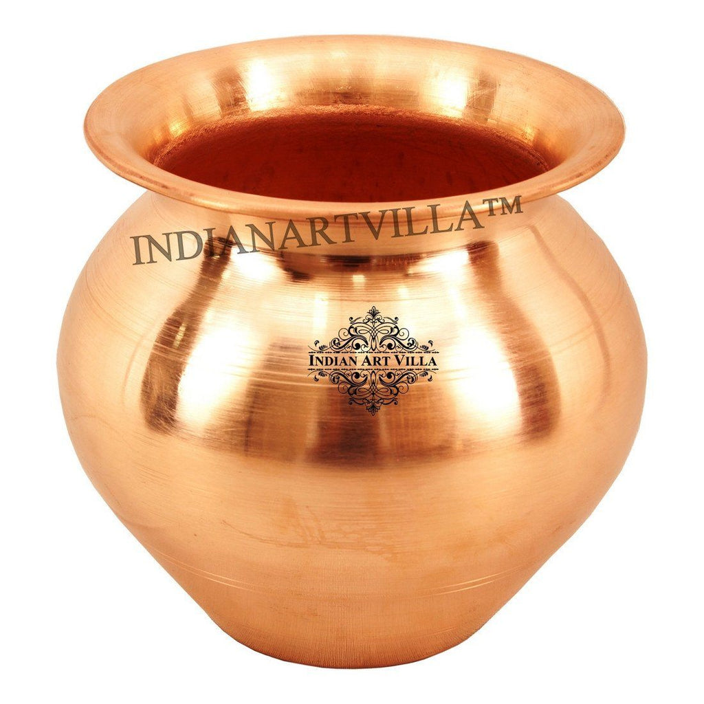 Copper Lota Pot - 23 Oz for Good Health Benefits