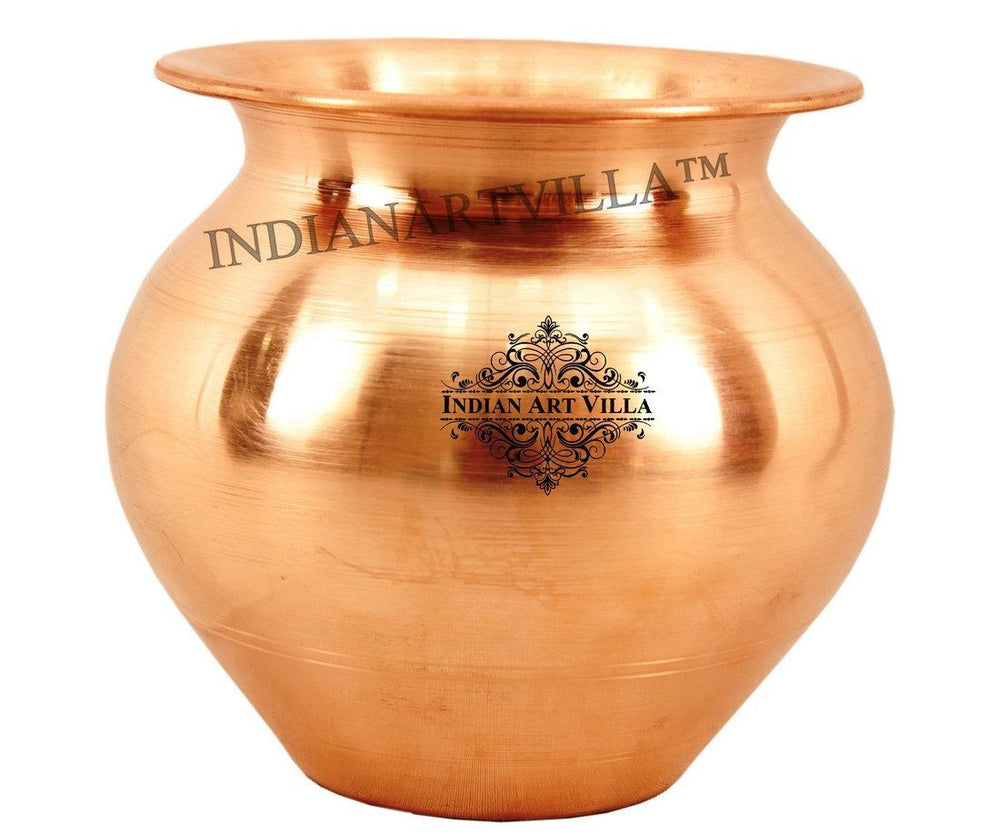 Copper Lota Pot - 23 Oz for Good Health Benefits Copper Lota Indian Art Villa