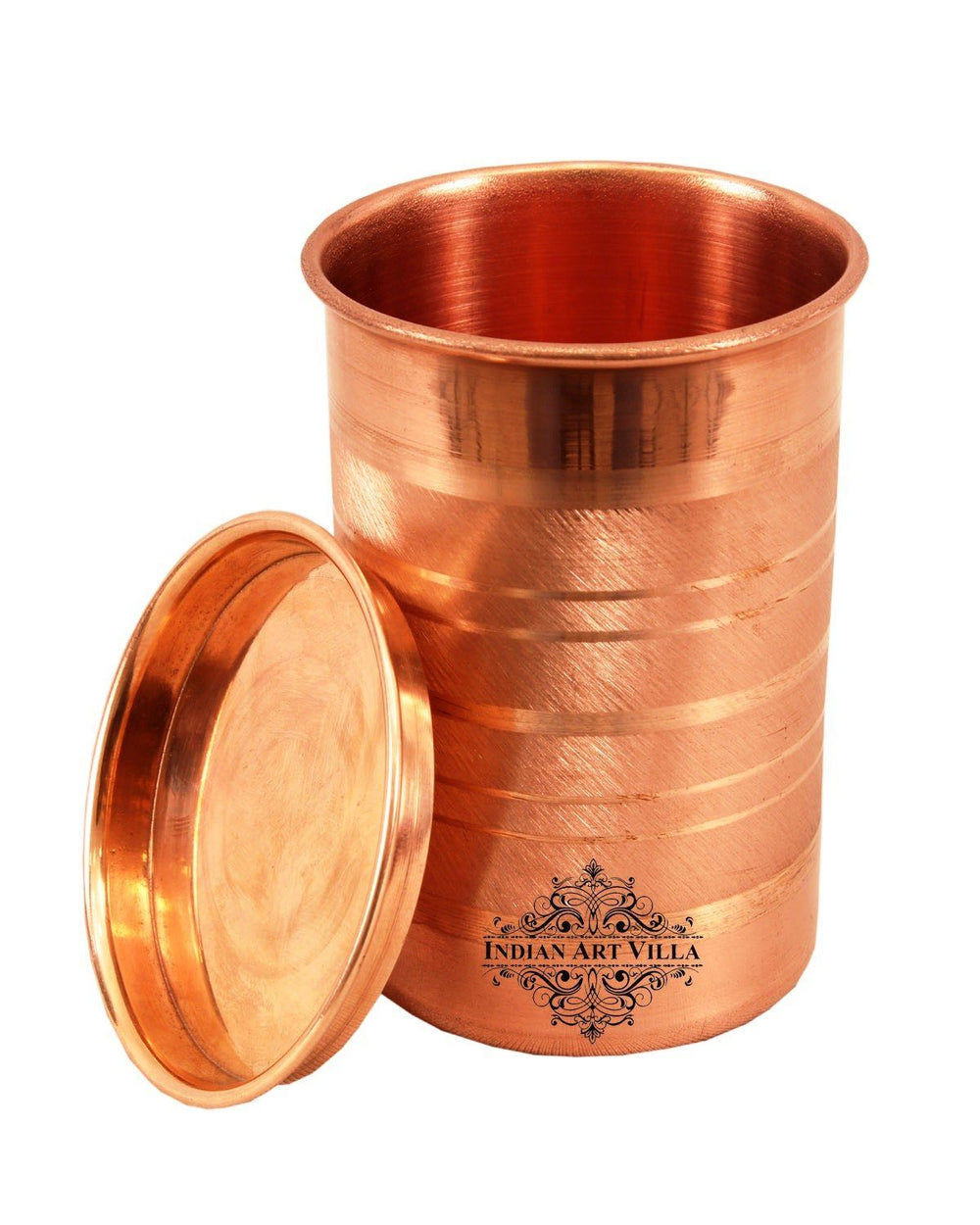 Copper Luxury Design Glass With Lid Set of - 1 Pieces | 2 Pieces | 4 Pieces | 6 Pieces Copper Tumblers CC-1
