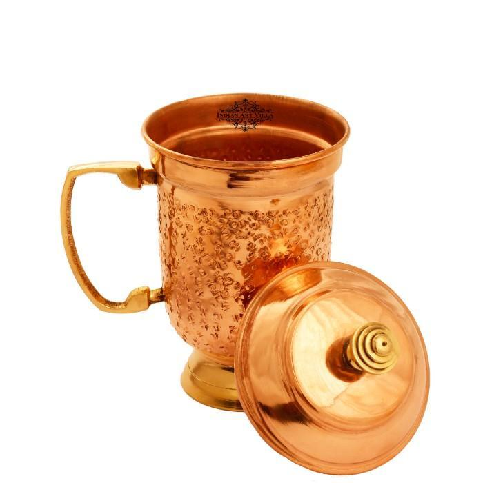 Copper Mug with Lid 16 Oz Copper Jugs IAV-CC-3-162