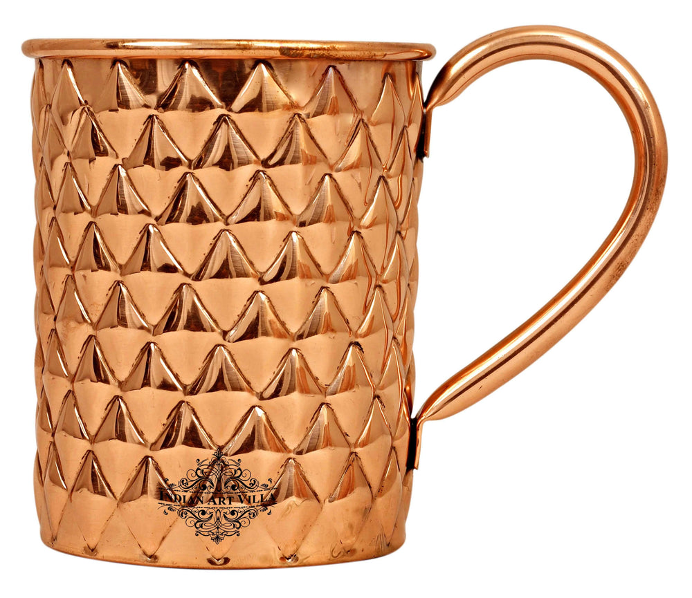 Copper New Diamond Design Beer Muscow Mule Mug - 500 ML