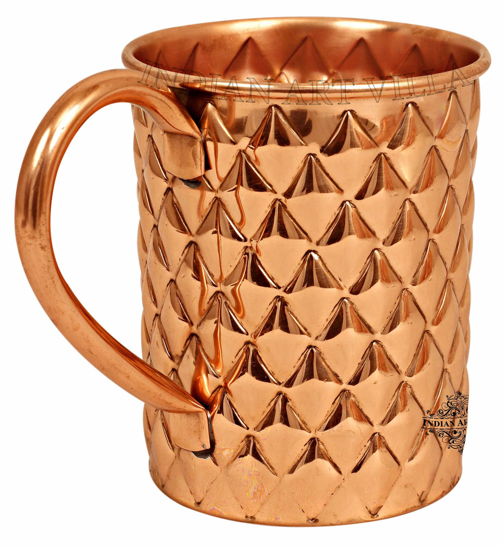 Copper New Diamond Design Beer Muscow Mule Mug - 500 ML Beer Mugs CC-30