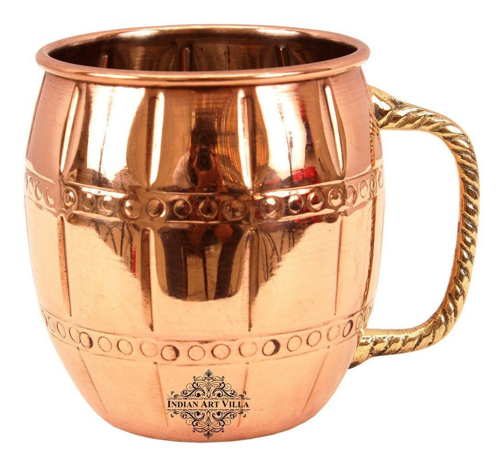 Copper Nickel 2 Ring Designer Beer 20 Oz Moscow Mule Cup Beer Mugs Indian Art Villa