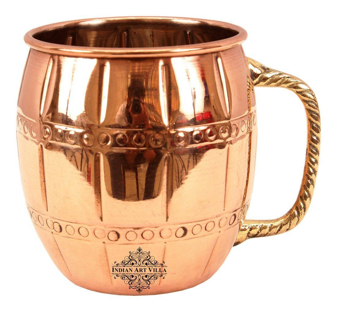 Copper Nickel 2 Ring Designer Beer 20 Oz Moscow Mule Cup