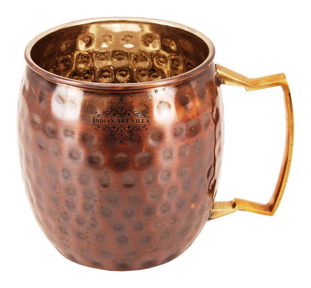 Copper Nickel Hammered Black Polished Moscow Mule Cup 18 Oz