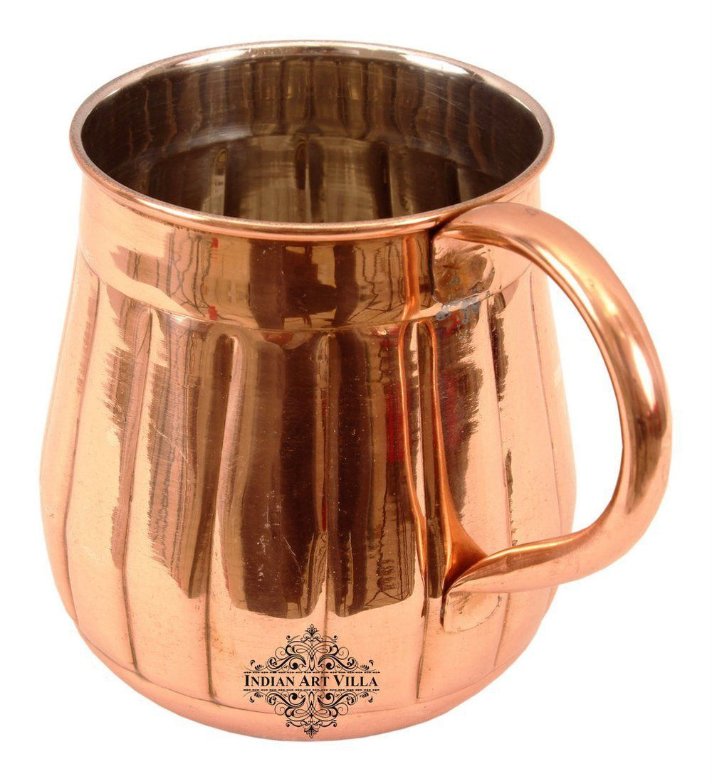 Copper Nickel Lining Design Big Bottle Beer Mug Moscow Mule Cup 21 Oz Beer Mugs Indian Art Villa