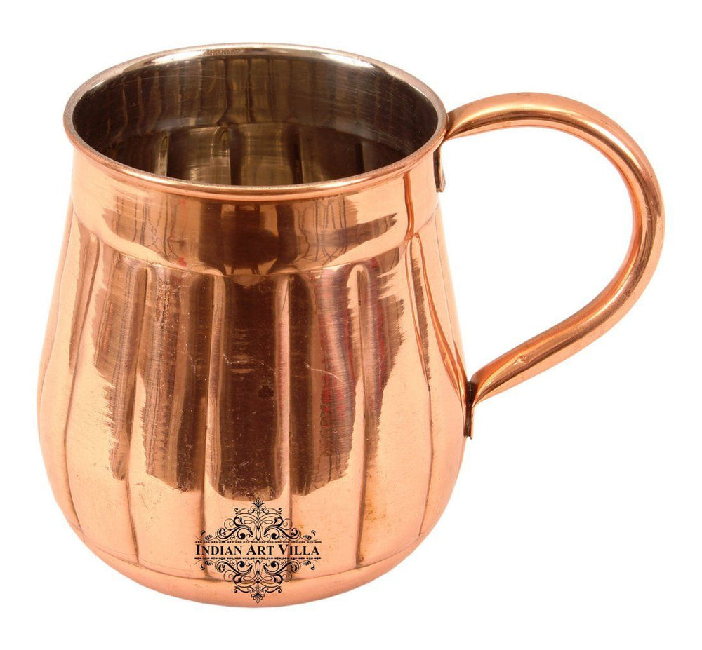 Copper Nickel Lining Design Big Bottle Beer Mug Moscow Mule Cup 21 Oz