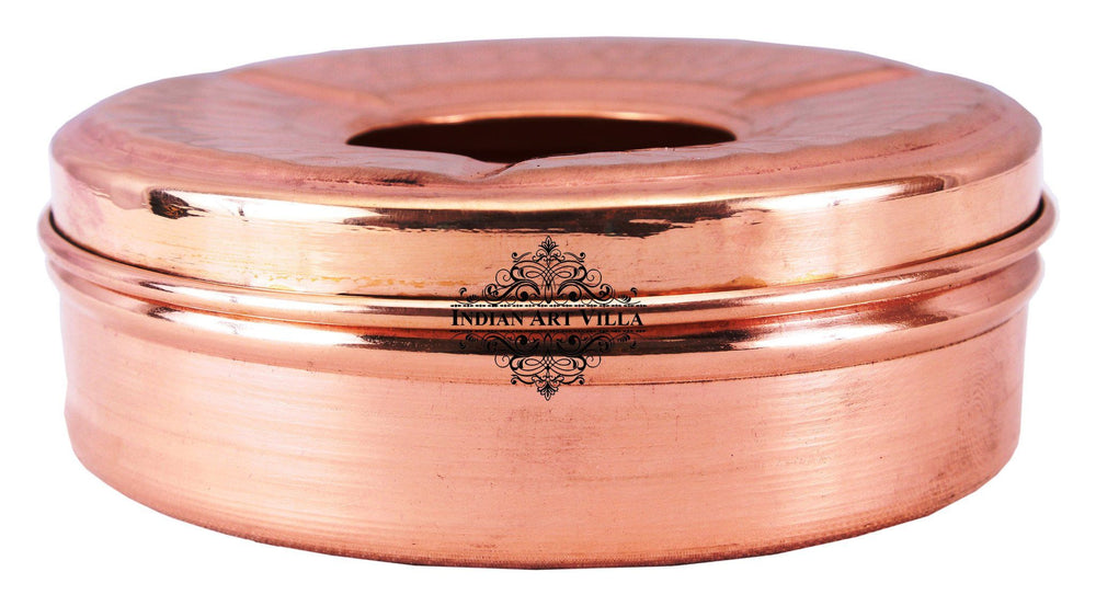 Copper Old Style Ashtray with 3 Cigerate Holders - Indoor Outdoor Ashtray Indian Art Villa