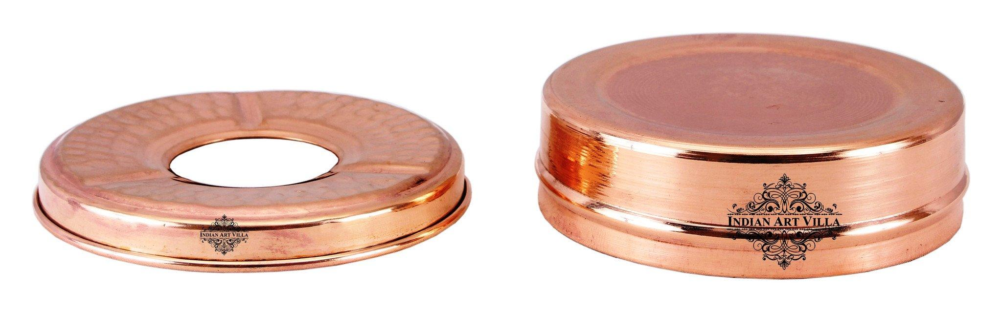 Copper Old Style Ashtray with 3 Cigerate Holders - Indoor Outdoor