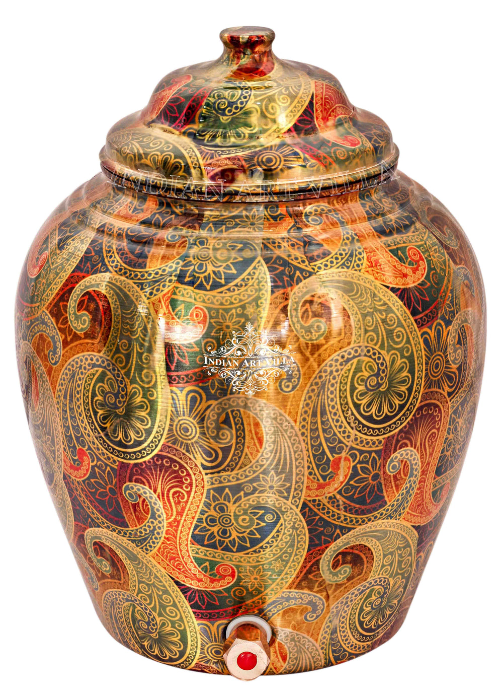 Copper Paisley design Water Pot Water Pots IAV-CC-33-109-