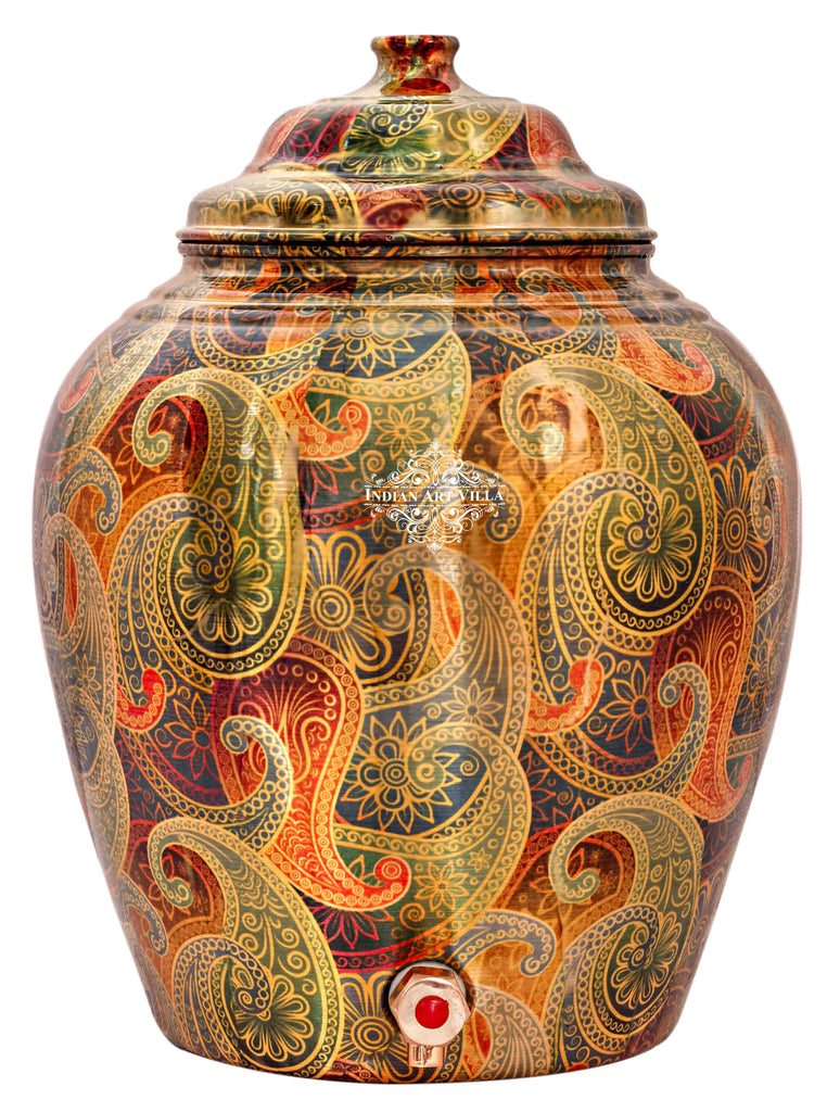 Copper Paisley design Water Pot