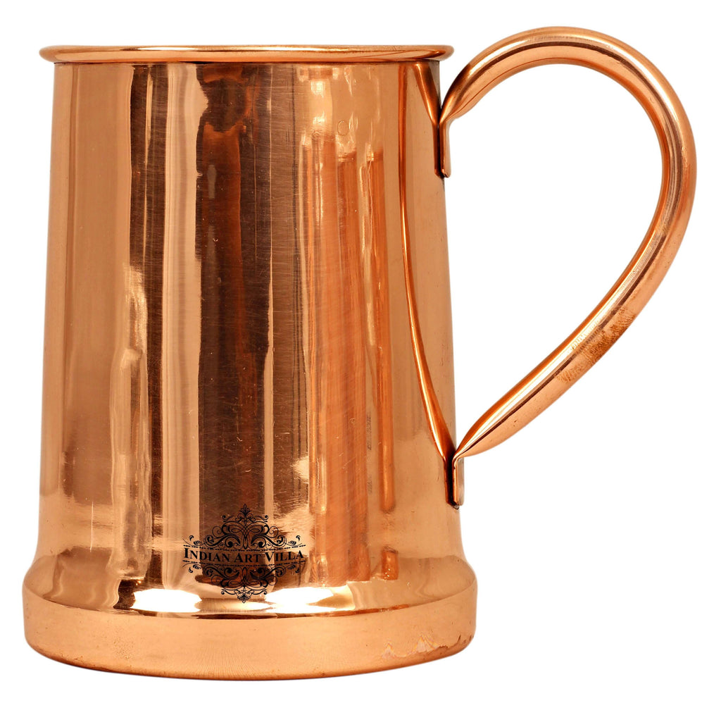 Copper Plain Design Beer Mug - 650 ML