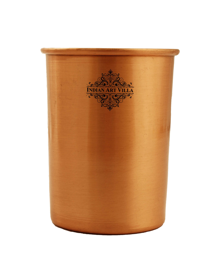 Pure Copper Plain Design Lacquer Coated Glass Tumbler , 10 Oz