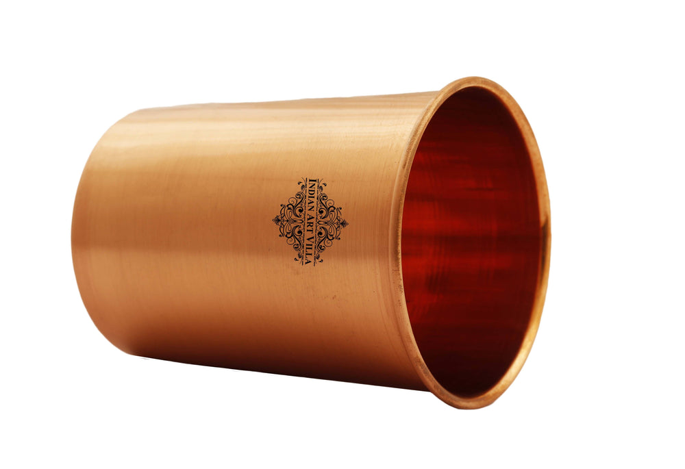 Copper Plain Design Lacquer Coated Glass Tumbler Copper Tumblers IAV-CC-6-159-
