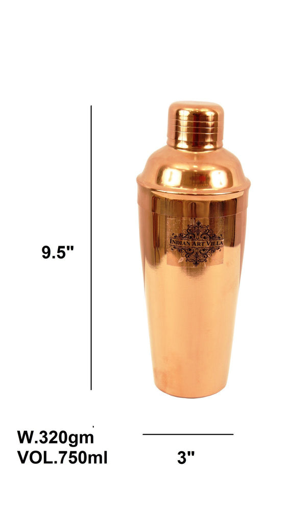 Copper Polish Steel Cocktail Wine Shaker 25 ML Wine Shakers Indian Art Villa
