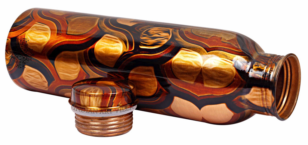 Copper Printed Abstract Design Bottle, 33 Oz Bottles IAV-CC-7-134-1000