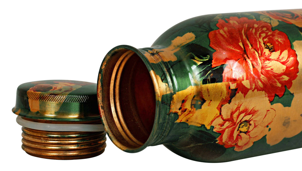 Copper Printed Bottle Green color