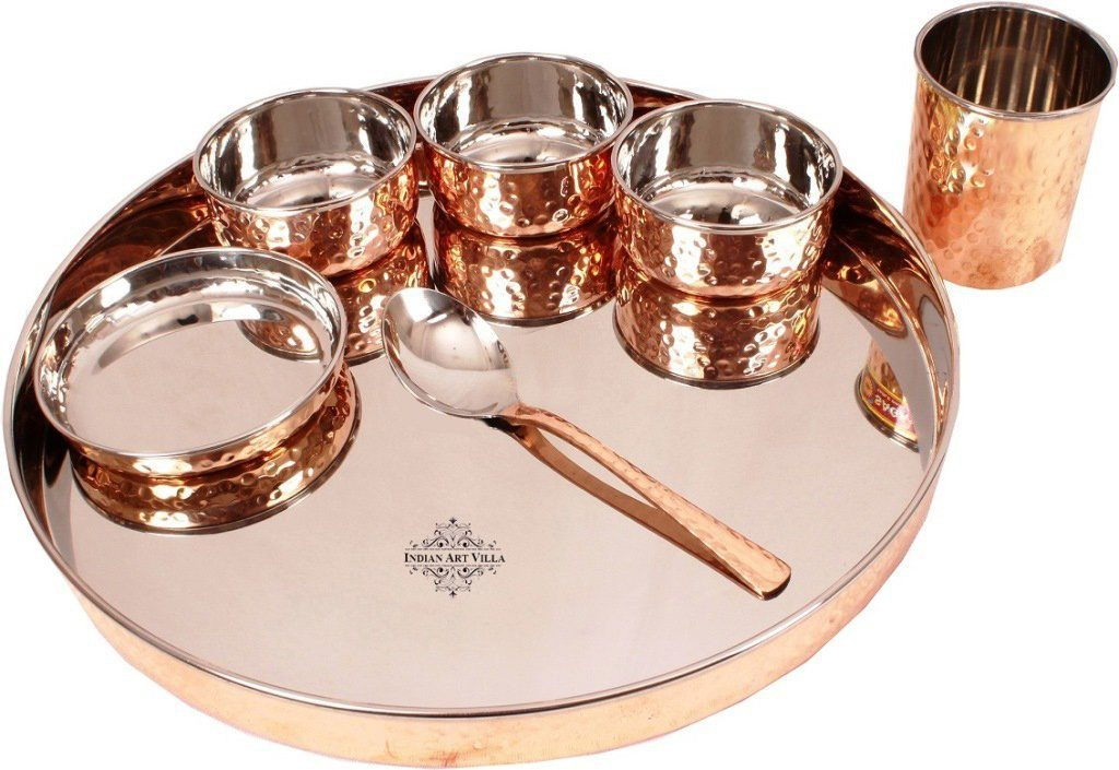 Copper Steel 7 Piece Kitchen Dinner Set