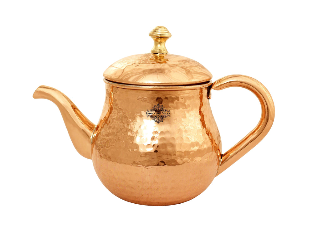 Copper Tea Pot Inside Tin Lining 6'' Inch Height