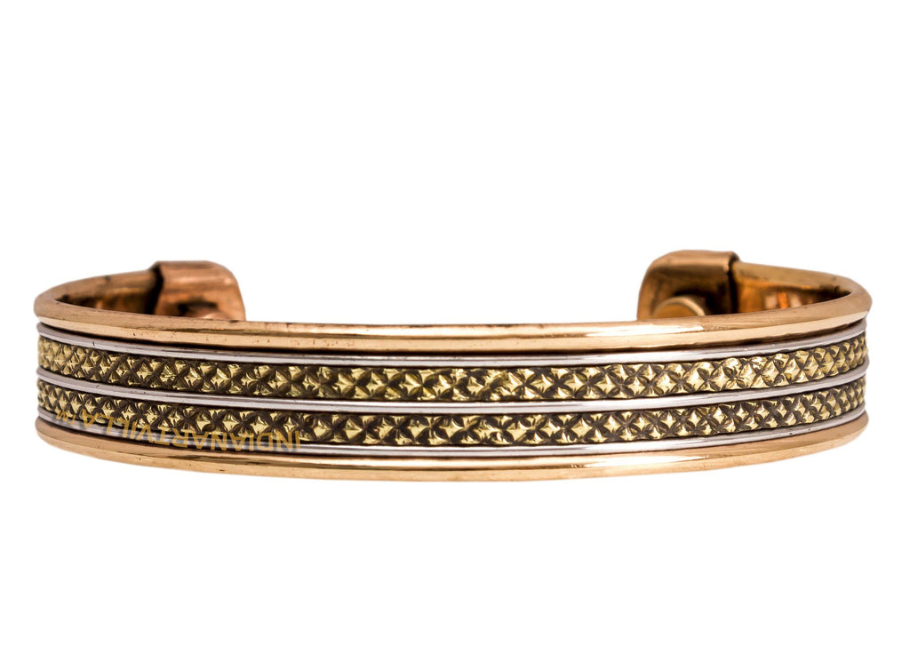 Copper Traditional Design Kada Bracelete 2 cms