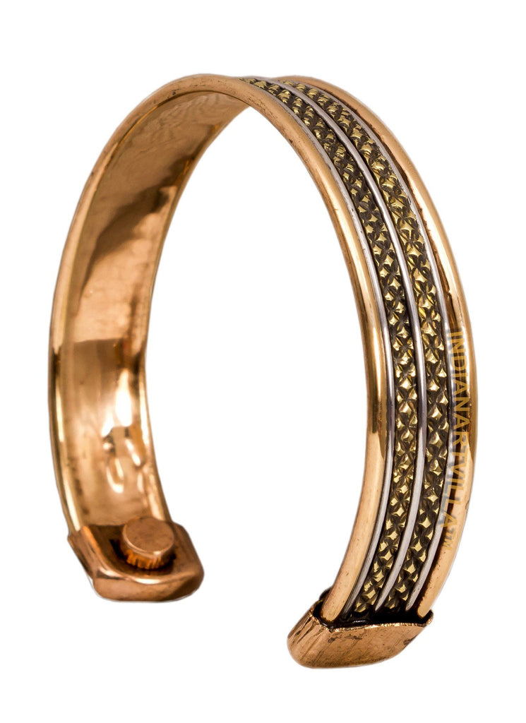 Copper Traditional Design Kada Bracelete 2 cms Bracelet HR-4