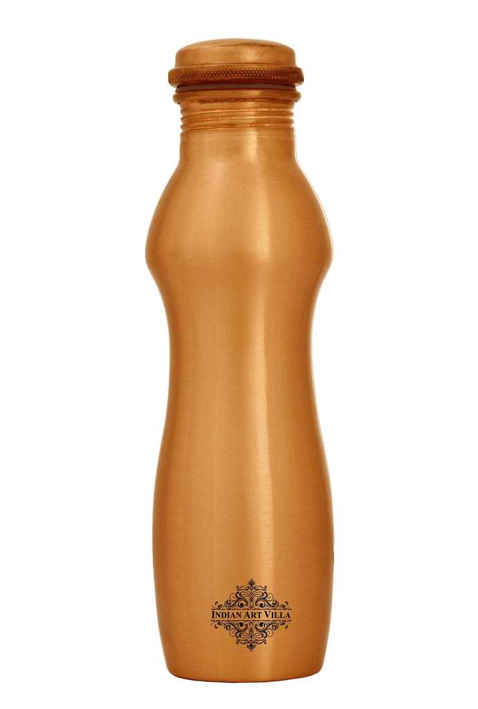 Curve Ergonomic Design Lacquer Coated Copper Bottle - Height - 10.7""