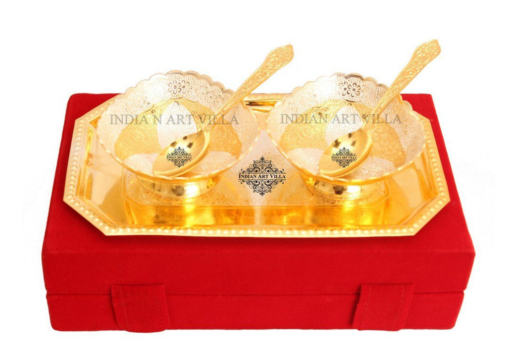 Designer Bowls and Spoons 1 Tray with Gift pack