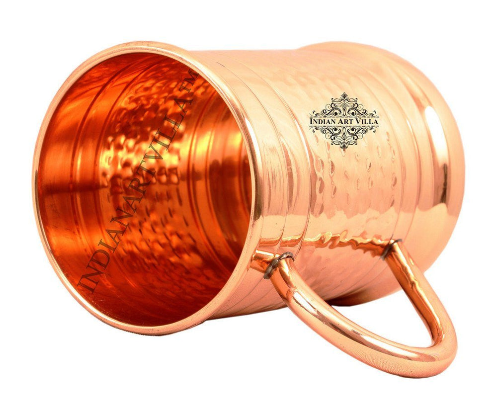 Hammered Pure Copper Big Moscow Mule Mug Cup 20 Oz Beer Mugs Indian Art Villa