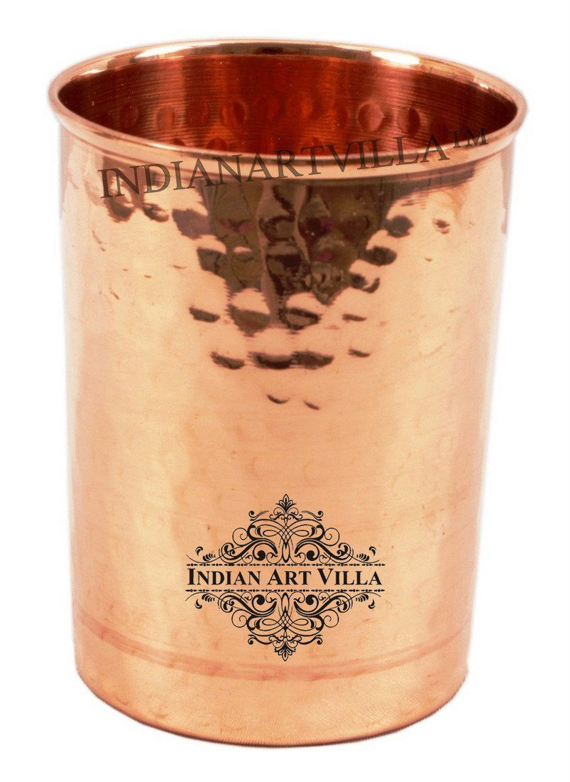 Handmade  Pure Copper Glass Cup 12 Oz
